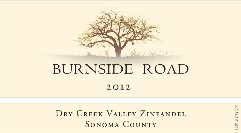 2012 Burnside Road - Dry Creek Zinfandel, Sonoma County