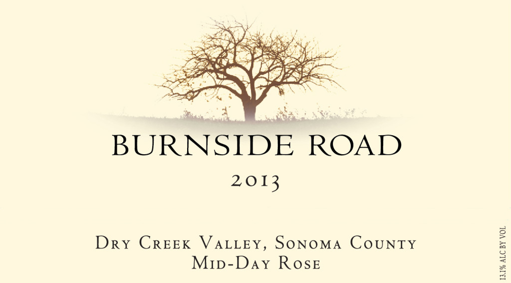 2013 Burnside Road - Dry Creek Valley Sonoma County - Mid-Day Rose